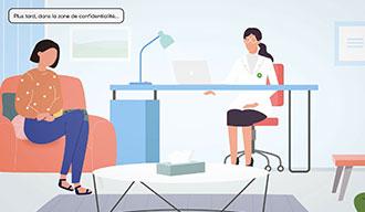 Inviter le patient dans l'espace de confidentialité - Miniature